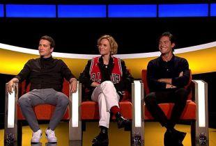 Niels Destadsbader, Cesar Casier, Dorianne Aussems in 'De Slimste Mens ter Wereld' op Play4