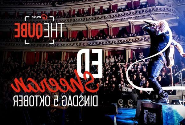 Ed Sheeran in The Qube van Qmusic