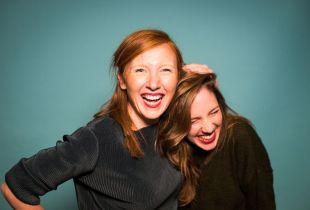 Michèle Cuvelier en Linde Merckpoel (foto: Studio Brussel - © VRT 2019)