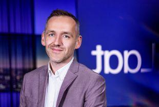 Xavier Taveirne in 'Laat' VRT Journaal